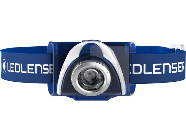 Led Lenser LED SEO 7R Linterna frontal Pack, blue